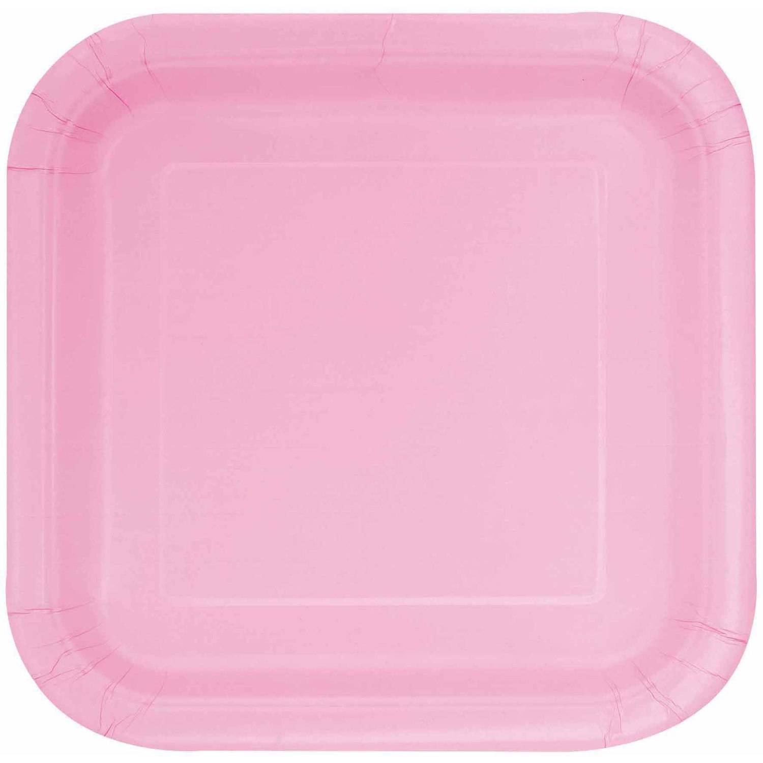 Square Paper Plates 7 in Light Pink 16ct  sc 1 st  Walmart : rectangle paper plates - pezcame.com