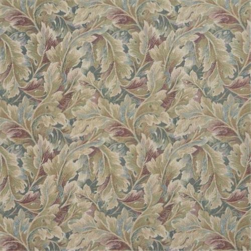 Designer Fabrics D569 54 inch Wide Burgundy And Green, Floral Leaf Tapestry Upholstery Fabric