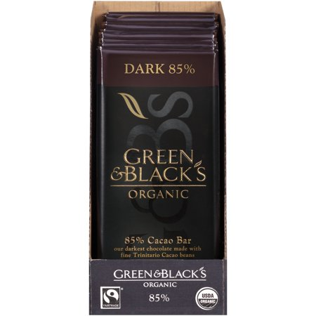 70% Cacao Dark Chocolate (Green & Black's Organic Dark Chocolate, 85% Cacao, 3.5 Oz, 10 Ct )