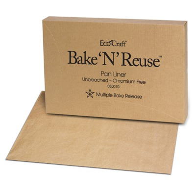 Ecocraft Bake 'n' Reuse Pan Liner, 16 3/8 X 24 3/8, 1000/box BGC030010