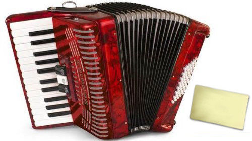 Hohner Accordions 1304-RED 73-Key Accordion with Zorro Cleaning Cloth by Hohner