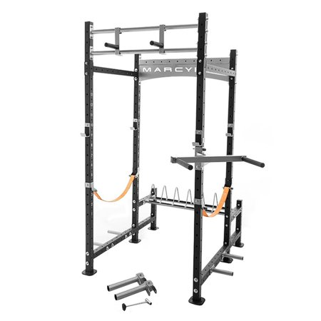- Marcy Pro Heavy-Duty Home Workout Gym Pull Up Weight Training Fitness Power Rack