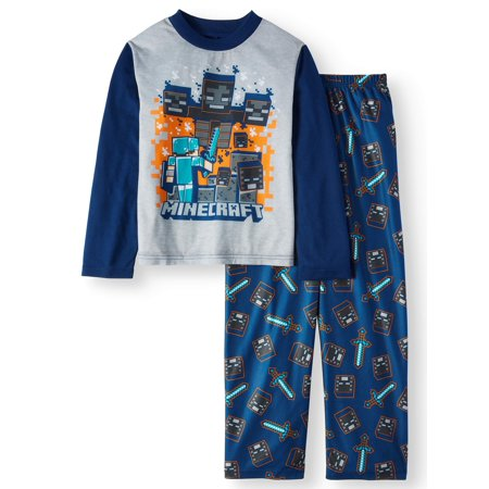 Minecraft Boys' Poly Long Sleeve 2-Piece Pajama Set for $<!---->