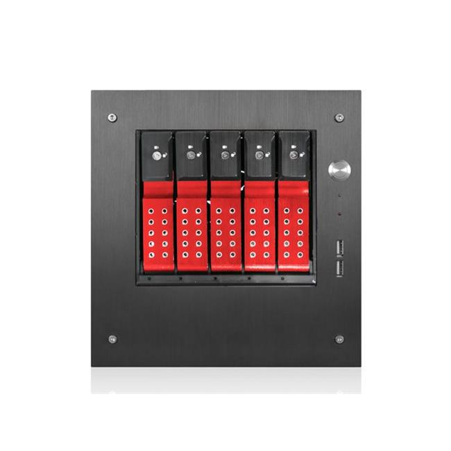 iStarUSA S-35-DE5RD Compact Stylish 5x 3.5-Inch mini-ITX Tower - Red