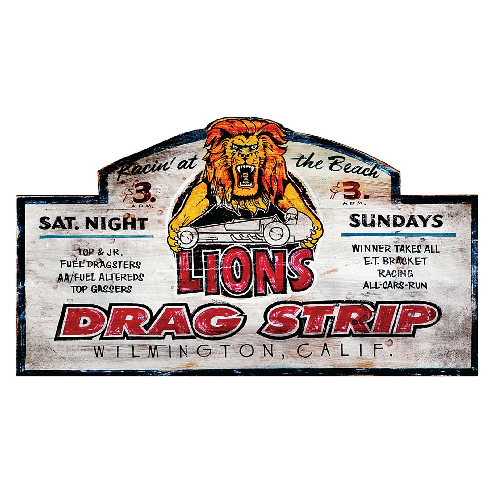 Drag Strip Wall Art - 32W x 18H in.