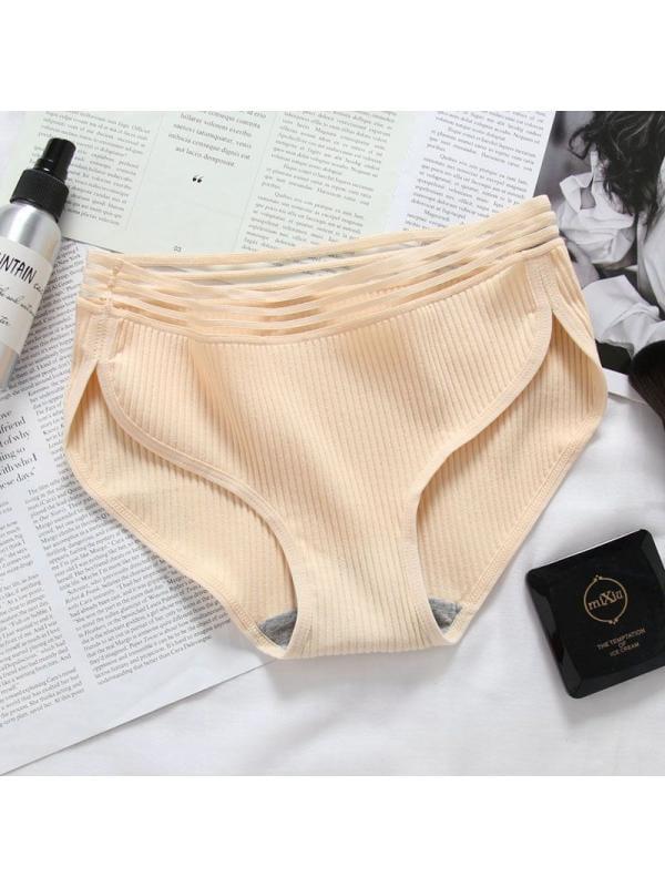 Ropalia Women Cotton Threaded Girl Breathable Soft Multi-color Underwear