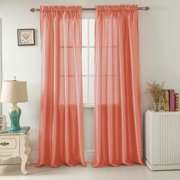Best Coral Calcia - Nikki Faux Silk 54 x 95 in. Rod Review