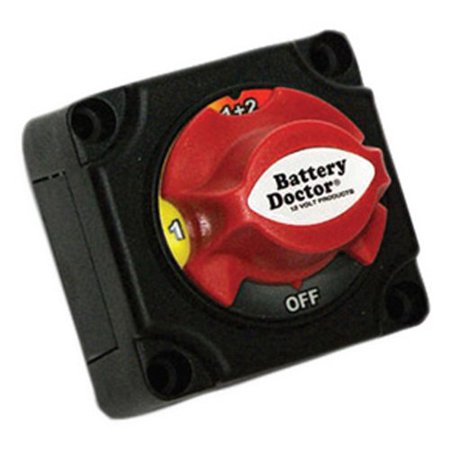 4 Position Charger (Battery Doctor 20393 Mini Master Disconnect Switch, Dual Battery, 4 Position)