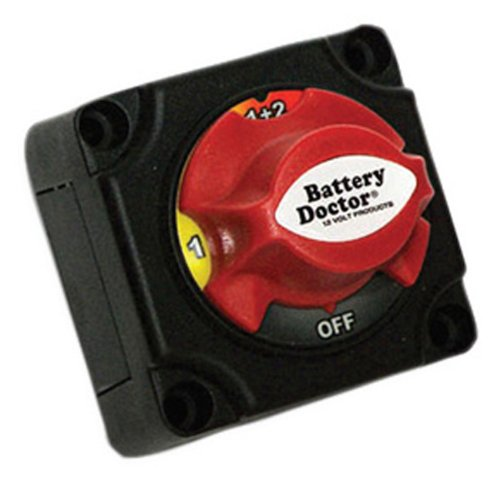 Wirthco Engineering 20393 Battery Doctor 20393 4 Position Mstr Batt Disconnect Switch-off/1/both/2- Knob & Bottom Cover-retail Pkg