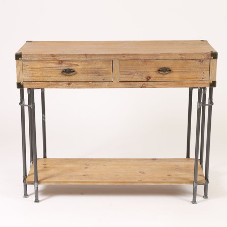 Rustic Two Drawer Console Table