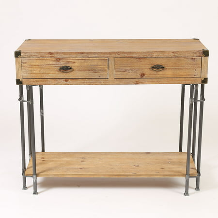 Winsome Rustic Two Drawer Console Table