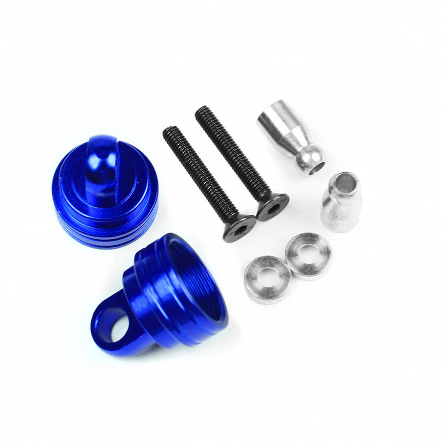 Atomik Alloy Ultra Shock Caps Traxxas Slash 2WD, 1:10, Blue