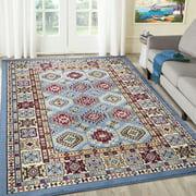A2Z Qashqai 5577 Transitional Oriental Medallion Bohemian Pattern Large Dining Room Soft Area Rug Tapis Carpet (3x5 4x6 5x7 5x8 7x9 8x10)