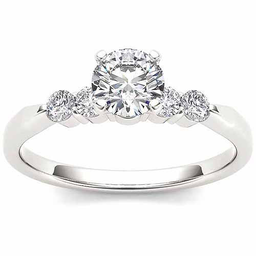Imperial 1 2 Carat T.W. Diamond Solitaire 14kt White Gold Engagement Ring by Imperial Jewels