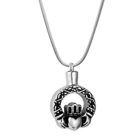 Vintage Designs Memorial Cremation Urn Necklace for Ashes