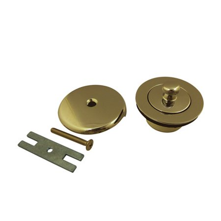 Kingston Brass Made to Match Lift and Turn Tub 1.5'' Lift and Turn Tub Drain With Overflow Polished Brass Tub Drain