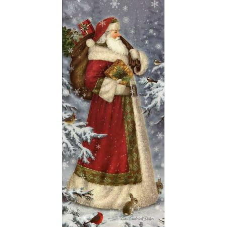 LPG Greetings Old World Santa Christmas Card ()