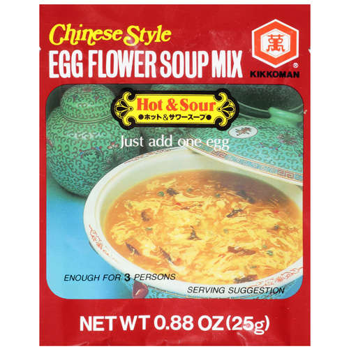 Kikkoman Chinese Style Egg Flour Mix Hot & Sour Soup, .88 oz