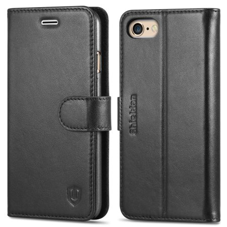 iPhone 6S Case iPhone 6 Case, Genuine Leather Wallet Case [Carry-all Case] Flip Case Cover with Stand Function & Credit Card Slot [Magnetic Clasp] for iPhone 6/6s, Black
