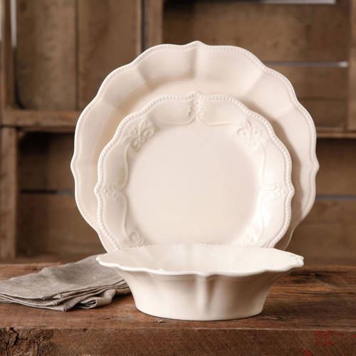 The Pioneer Woman Paige Crackle Glaze Dinnerware Set, 12 pc