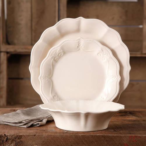 The Pioneer Woman Paige Crackle Glaze Dinnerware Set, 12 pc
