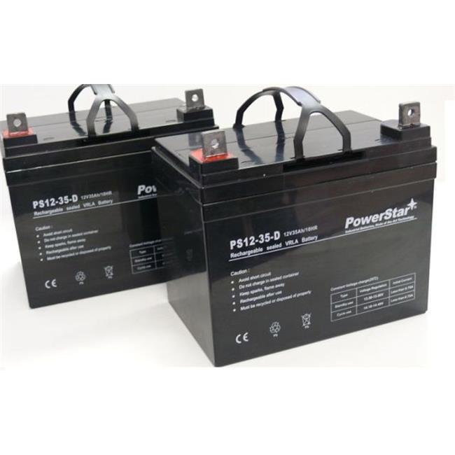 Powerstar AGM1235-2Pack-18 12V 35AH SLA Battery For Pride...