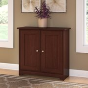 Bush Furniture Cabot Small Storage Cabinet With Doors In Harvest Cherry