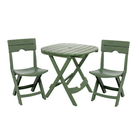 Adams Manufacturing Quik-Fold Cafe Set, Sage (Adams Manufacturing Quik Fold Cafe Bistro Set)