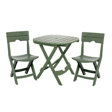 Adams Manufacturing Quik-Fold Cafe Set, Sage