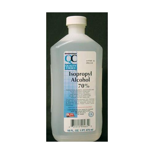 4 Pack Quality Choice Isopropyl 70% Rubbing Alcohol First Aid Antiseptic 16oz Ea