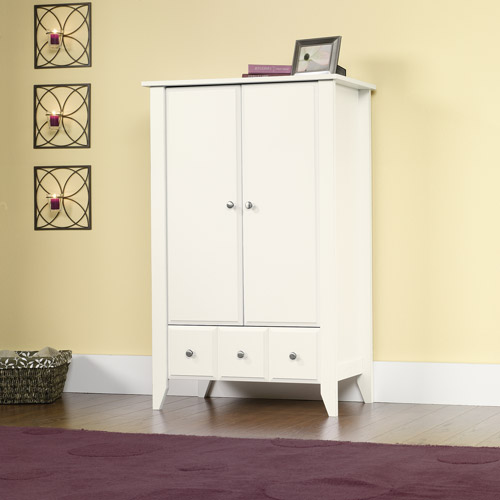 Sauder Shoal Creek Armoire, Soft White