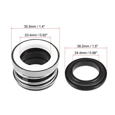 Mechanical Shaft Seal Replacement for Pool Spa Pump 3pcs 104-22 - image 3 of 4