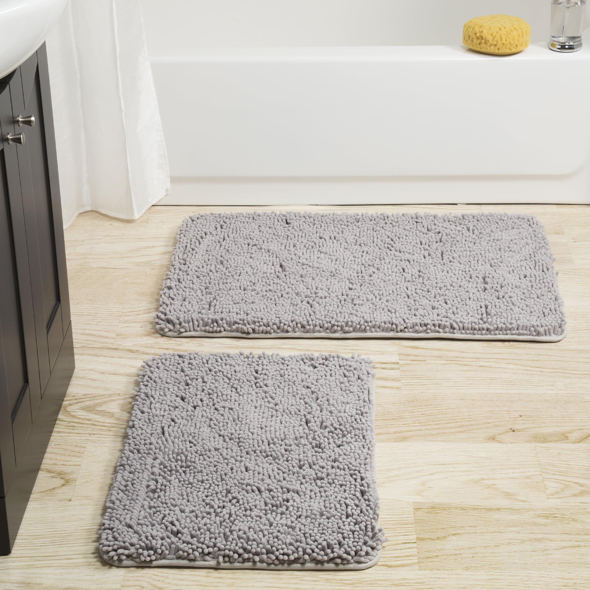 Somerset Home 2 Piece Memory Foam Bath Mat Gray