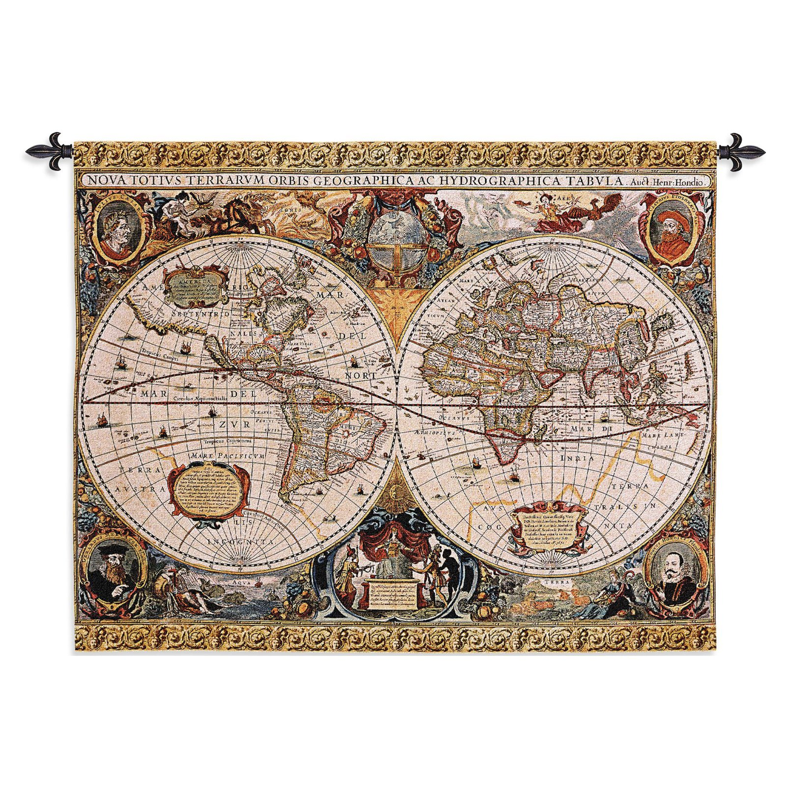 Antique Map Geographica Large Wall Tapestry by Supplier Generic