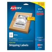 Shipping Address Labels, Inkjet Printers, 50 Labels, Half Sheet Labels, Permanent Adhesive, TrueBlock (8126), Permanent adhesive guaranteed to stick.., By Avery
