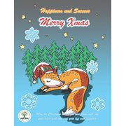 Happiness and Success Merry Xmas: Bullet Planner and Notebook Chrismas Theme, A Sleep Fox cover design