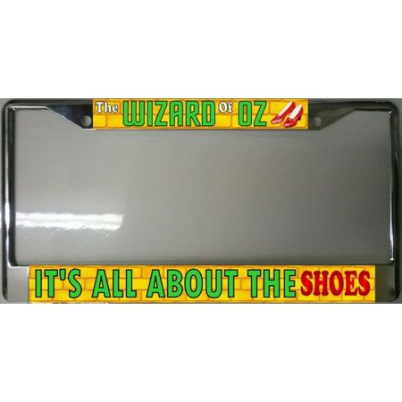 Wizard Of Oz Ruby Slippers Photo License Plate Frame Free Screw Caps Included