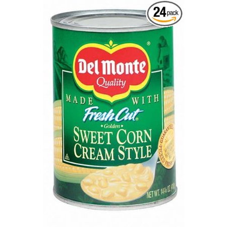 24 PACKS : Del Monte Sweet Corn Cream Style 14 oz