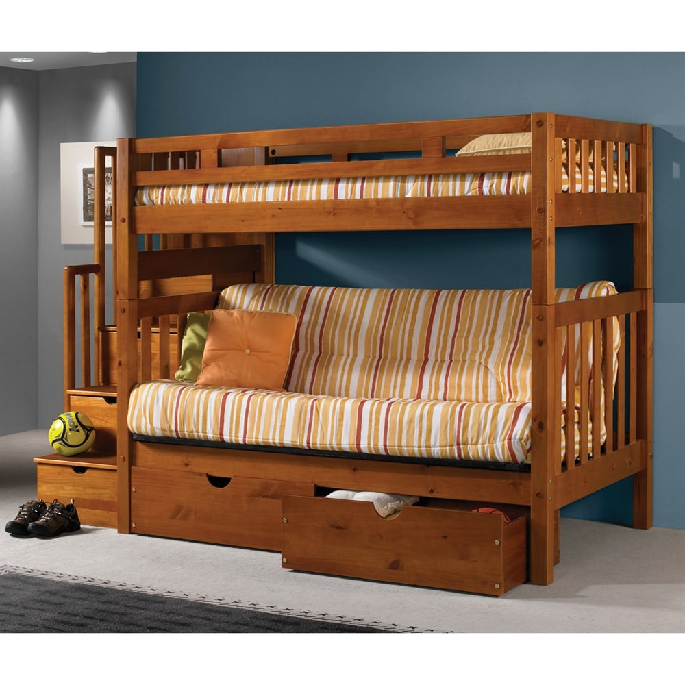 Pivot Direct Pd 200h T Donco Kids Tall Mission Stairway Bunk Bed