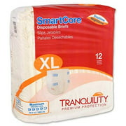 Tranquility SmartCoreTM Adult Disposable Color-Coded Briefs Extra Large - 12 Each