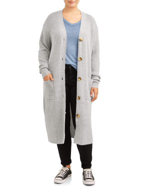 No Boundaries Juniors' Plus Size Knitted Duster Cardigan
