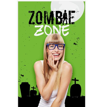 Zombie Zone - Halloween or Birthday Zombie Crawl Party Photo Booth Backdrops - 36