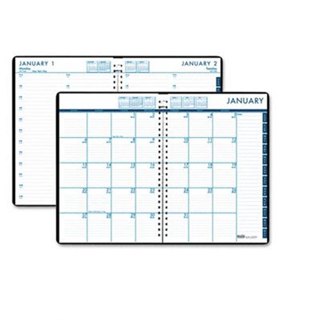 House Of Doolittle 289632 24/7 Daily Appointment Book/Monthly Planner, 7 x 10, Black