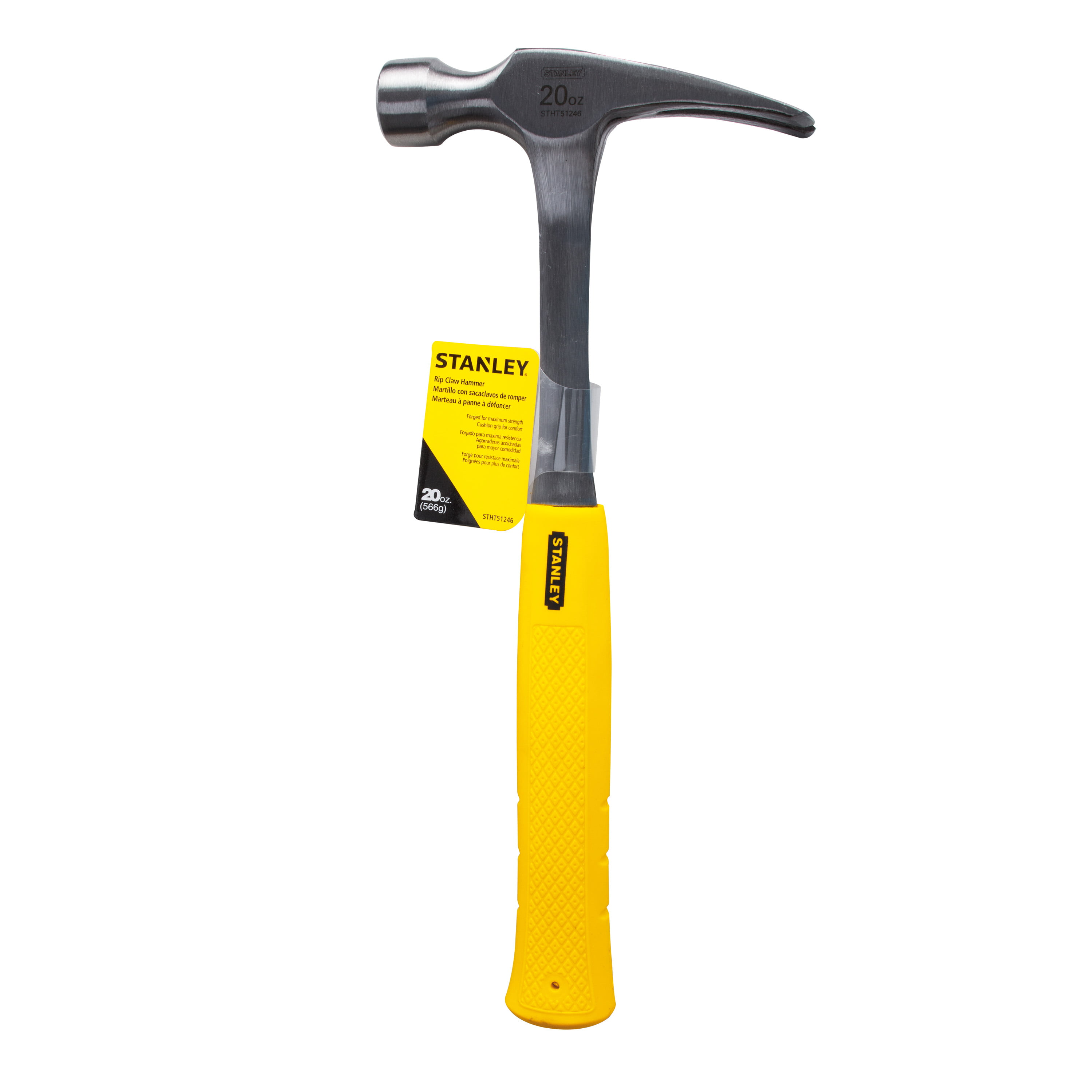 STANLEY STHT51246 20 oz Yellow Rip Claw Hammer by Stanley Black & Decker