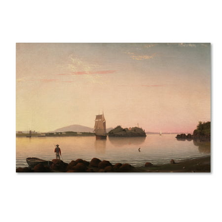 Trademark Fine Art 'Owls Head Penobscot Bay Maine' Canvas Art by Fitz Henry Lane
