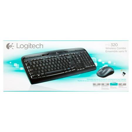 Logitech® MK320 Wireless Desktop Set, Keyboard/Mouse, USB - Black (920002836)