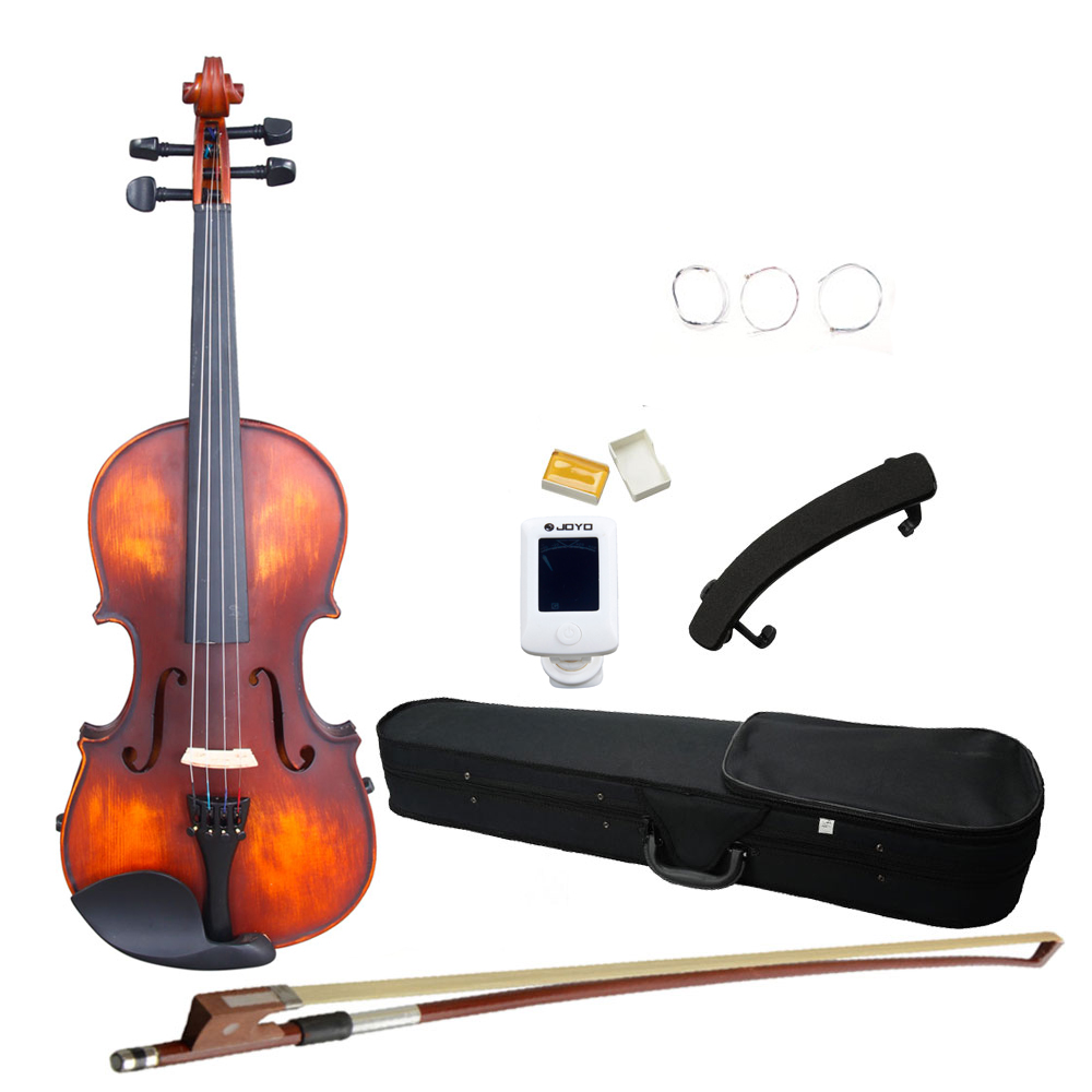 Ktaxon New 4/4 Solid Wood Classic Design Natural Retro Acoustic Violin Fiddle with Case + Bow + Rosin + Tuner
