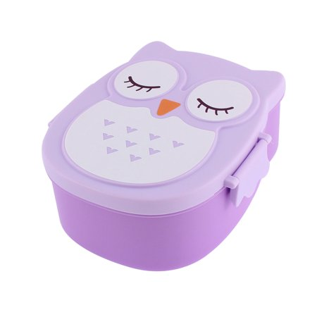 plastic 2 compartments bento lunch box food storage container purple. Black Bedroom Furniture Sets. Home Design Ideas