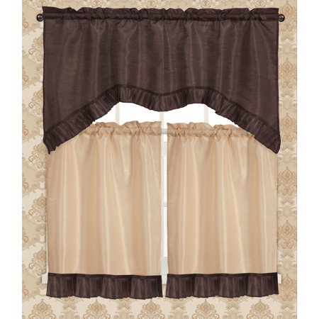 Bermuda Ruffle Kitchen Curtain Tier Set