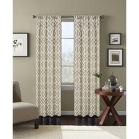 Better Homes and Gardens Ironwork Printed Window Curtain, Rod Pocket